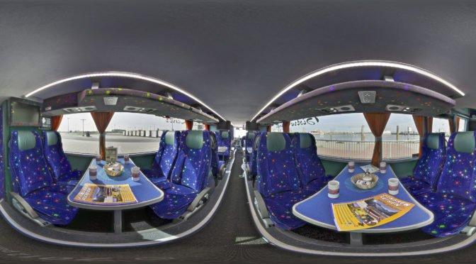 virtueller Rundgang durch einen Reisebus